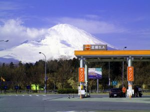 Mr. Fuji from Ashigara Service Area on the Tomei Expressway