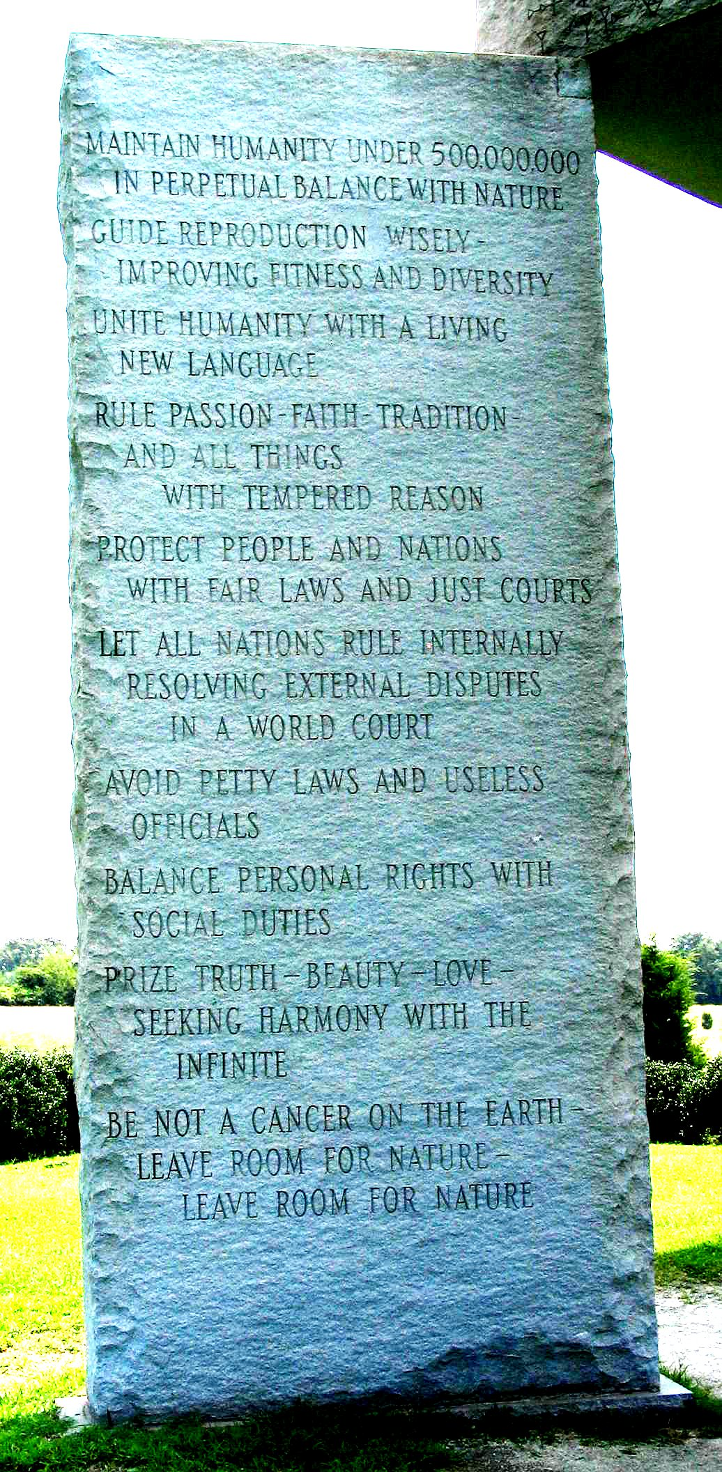 Georgia Guidestones English