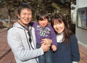 Mr. and Mrs. Maehara and 3 year old son who took me to the Kohoku PA