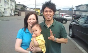 Mr. and Mrs. Kudo take me to Aomori city