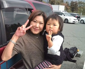 Mother with 2 year old daughter who took me from Echigo Kawaguchi in Niigata to to AkagiKogen in Gunma