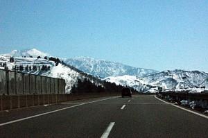 The Kanetsu Expressway approaching Yuzawa Ski Resort