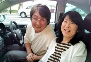 Couple on their way to Sapporo who took me to Aomori City from Odate.