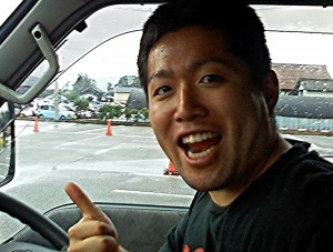 Sho who took me to Tsuruoka   City in Yamagata. He was traveling from Kanagawa.