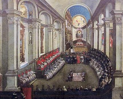 The Council in Santa Maria Maggiore church; Museo Diocesano Tridentino, Trento.