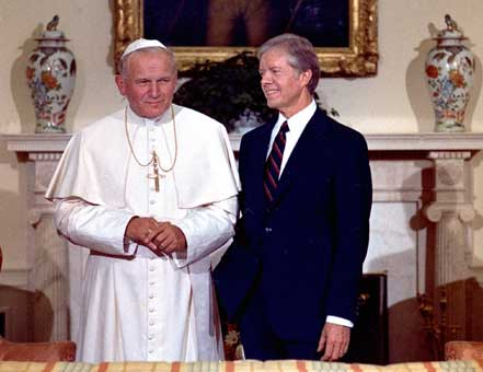 Photos of U.S. Presidents meeting the Pope